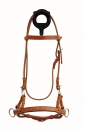 Side Pull - SINGLE LEATHER NOSEBAND - Harness Kopfstück - SOFT PADDED