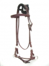 Side Pull - Latigo Stitched - Single Round Leather Noseband
