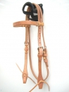 """EE Tack"" Harness Kopfstück - Herman Oak Leather - Stirnband"