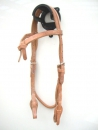 """EE Tack"" Harness Kopfstück - Herman Oak Leather - Futurity Stirnband - Quick Change"