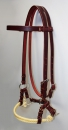 Side Pull - Latigo Leather - Double Rope Noseband - AE137