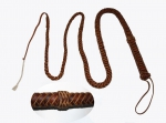 Bull Whip - Full Latigo Braided - 8'' / 250cm