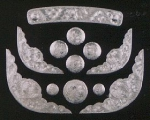 12 Piece Silver Saddle Set - #882
