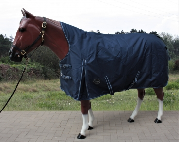 """TOUGH HORSE"" - Regen Winterdecke - HALF NECK - 100gr. - 1200D - NAVY - 76´´ & 78´´"