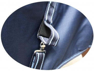 """TOUGH HORSE"" - Regen Winterdecke - HALF NECK - 150gr. - 1200D - NAVY - 76´´ & 78´´"