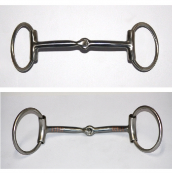 FG SS Brushed Ring Snaffle - Sleeves - Curved - #255098