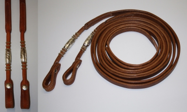"""EE Tack"" - Harness Zügel - 5/8 '' - Round End's - Silver Pipe's / Rawhide"