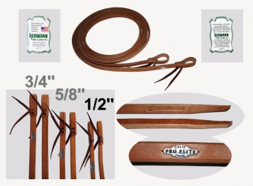 """California Pro Elite Series"" (ex. CHAMPION)- Premium Harness Zügel - dicke Enden - 8 ft. (240cm) lang - 1/2'' (13mm)"