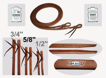 """California Pro Elite Series"" (ex. CHAMPION)- Premium Harness Zügel - dicke Enden - 8 ft. (240cm) lang - 5/8'' (16mm)"