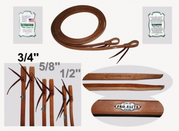 """California Pro Elite Series"" (ex. CHAMPION) - Premium Harness Zügel - dicke Enden  - 8 ft. (240cm) lang - 3/4'' (19mm)"