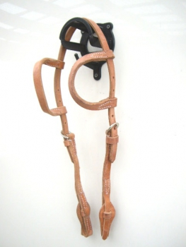"""EE Tack"" Harness Kopfstück - Herman Oak Leather - Doppeleinohr - Quick Change"