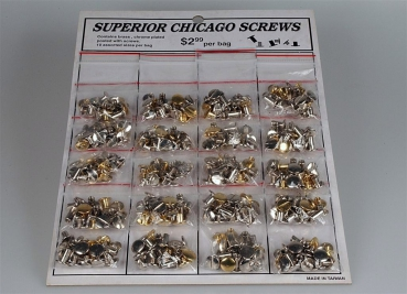 Chicago Screw Card Set (20 Tüten á 10 Stück)