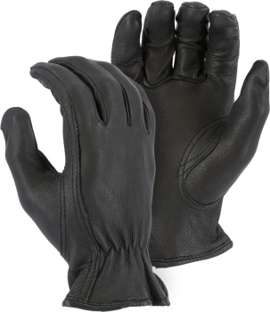 """Majestic"" Black Deerskin Leather Glove – #1553"