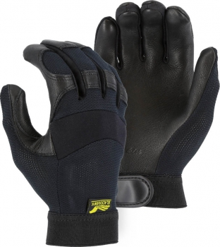 """Majestic"" BLACKHAWK - Black Deerskin Leather Glove – #2149"