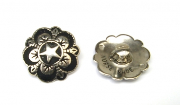 HSB Floral Star Concho with Screw – 1 ½´´ - 04232-BS