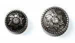 """ILC"" Concho with Chicago Screw - ROUND / FLOWER - 2 versch. Größen (7407-05 u. 7408-06)"